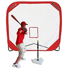 Amazon.com : Heater Sports-Spring Away Tee & Spring Away 7' X 7' Pop-Up Net : Baseball Batting Tees : Sports & Outdoors