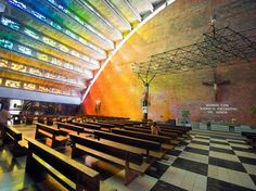 San Salvador, El SalvadorThe best time to visit Iglesia el Rosario, or the Church of the Rosary, in central San Salvador, is on a sunny day. At the right angle, the light hits the fan-like roof and its multicolored glass, creating a brilliant rainbow effect.