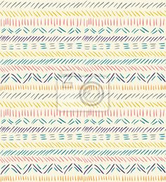 Wall Mural seamless doodle pattern in ethnic style #2 - native • PIXERSIZE.com