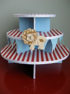 Big Top Circus Cupcake Stand - PERFECT for the upcoming bigtop party!