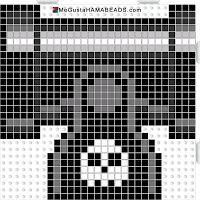 Hama Beads Cañón Super Mario (Bullet Machine)