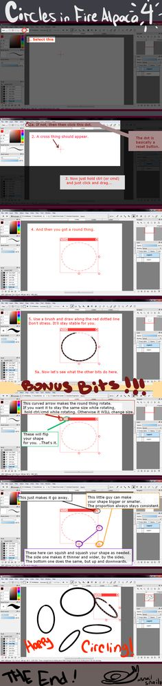 How to- Circles in FireAlpaca- the cool way by Brashgirl901.deviantart.com on @DeviantArt