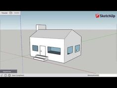 Intro to SketchUp Free: Draw a Simple House Architect Software, Sketchup Free, Free Youtube, Simple House, Draw, Camper Ideas, Temple, To Draw, Sketch