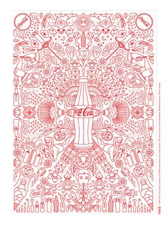 Kiss The Past Hello. Coca-Cola Design: 100 Years of the Coca-Cola Bottle. #MashupCoke by: HI(NY) Design