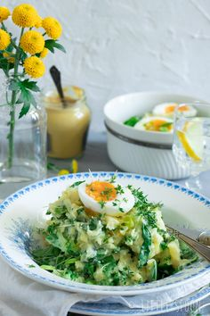 Spring stew with bok choy, crème fraiche and soft-boiled eggs - Little Spoon Good Healthy Recipes, Healthy Cooking, Vegetarian Recipes, Cooking Recipes, Quick Meals, No Cook Meals, Breakfast Lunch Dinner, Happy Foods, Soul Food