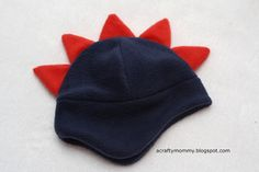 """a crafty mommy"" fleece dino hat tutorial. This was easy, great for halloween and I can use it all winter!"