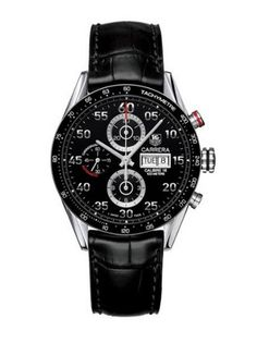 Men's TAG Heuer Carrera Automatic Chronograph Day-Date Watch - Whether you are out playing golf or going to an elegant dinner, this is a great watch to wear any time.