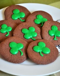 Shamrock chocolate peppermint cookies  from Baking Bites-- perfect for St. Patty's Day