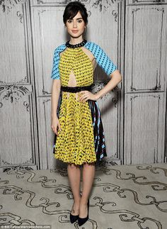 Luxe celeb style | Lily Collins in vibrant print cutout dress | The Luxe Lookbook