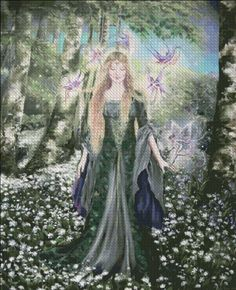 Hannah Titania On A Midsummers Eve [SZABO111] - $19.00 : Heaven And Earth Designs, cross stitch, cross stitch patterns, counted cross stitch, christmas stockings, counted cross stitch chart, counted cross stitch designs, cross stitching, patterns, cross stitch art, cross stitch books, how to cross stitch, cross stitch needlework, cross stitch websites, cross stitch crafts