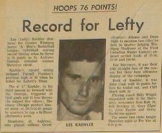 Hall of Fame News: Where Are they Now? Les Kaehler   CATCHING UP - WHERE ARE THEY NOW?  We are starting a new feature where we try to catch up with some of our past honoured members. We begin with someone who if you were around in the 1960's you will remember as one of the best to ever play in Manitoba.  Les Kaehler - Inducted as a player in 1996. Les or Lefty Kaehler as he was called then was an outstanding player for St. Andrews in the Winnipeg Senior Mens league 1964-68 an era when senior…