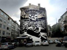 Street Art m-city in Istanbul, Turkey