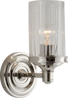 Visual Comfort Lighting Alexa Hampton Ava Single Sconce in Polished Nickel with Crystal Wall Lights, Sconces, Alexa Hampton, Glass Bulbs, Visual Comfort Lighting, Polished Nickel, Wall Sconce Lighting, Visual Comfort, Bathroom Sconces