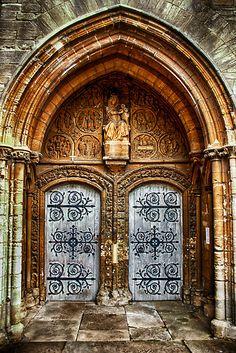 St Marys Church West Porch Door by Vicki Field--the mother of all doorways Porch Doors, Entrance Doors, Doorway, Windows And Doors, Cool Doors, Unique Doors, Portal, Knobs And Knockers, Door Knobs