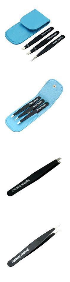 Tweezers: Prefer Beauty Tweezers Set 3 Best Stainless Steel Professional Slanted Eyebrow BUY IT NOW ONLY: $31.5