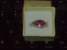 LOOK!!!!! A STUNNING STERLING SILVER BLACK FIRE OPAL AND TOPAZ ACCENT RING SIZE 8