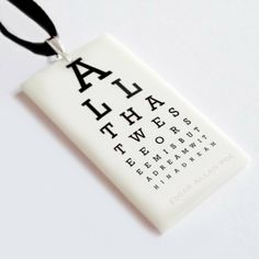The Mymble's Daughter Jewellery & Art — The Eye Chart Pendant