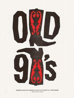 OLD 97's gig poster. #musicart #concerts http://www.pinterest.com/TheHitman14/music-poster-art-%2B/