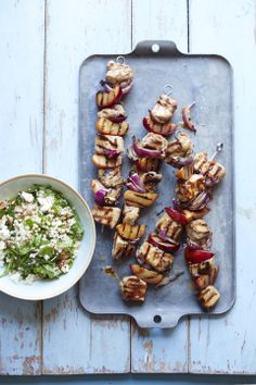 Pork and Plum Skewers #myplate #pork #grill #summer