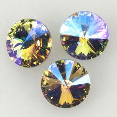 Eureka Crystal Beads - 1122 12mm Rivoli VIOLET GLACIER BLUE Custom Coating Swarovski Crystal Stones (2), $3.15 THIS LIMITED EDITION SWAROVSKI RIVOLI WILL MAKE YOUR JEWELRY BLINK! (http://www.eurekacrystalbeads.com/1122-12mm-rivoli-violet-glacier-blue-custom-coating-swarovski-crystal-stones-2/)