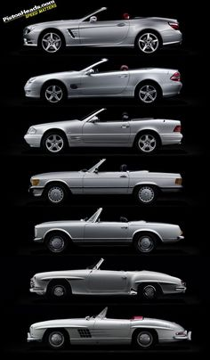 Beautiful. The evolution of the Mercedes SL / me quedo con el primero