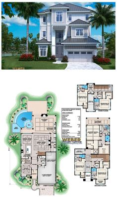 This beach house plan is designed with much thought to its open layout and view oriented floor plan. This home plan functionally caters to what modern families want in a waterfront, three-story home plan.   More beach house plans:  https://www.weberdesign