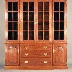 china cabinet design ideas | Breakfront Mahogany China Cabinet custom made by…