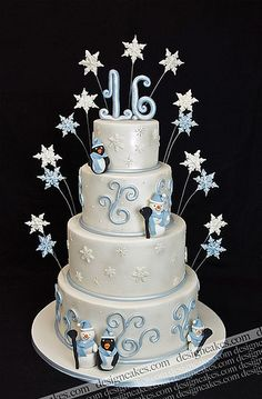 Winder wonderland sweet sixteen cake