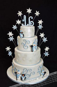 Winder wonderland sweet sixteen cake