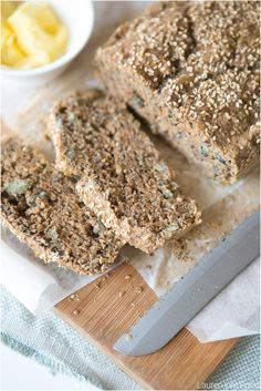 Low Carb Bread made with seeds and seed flour. A budget friendly home-made loaf of Low Carb Bread to enjoy your favourite toppings on. Banting Bread, Sugar Free Treats, Low Carb Bread, How To Make Bread, No Carb Diets, Eating Plans, Bread Recipes, Sweet Tooth, Tasty