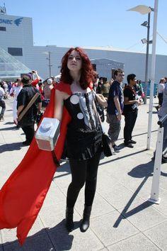 a more demure girl Thor. Still hot, though...