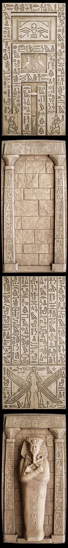 Egypt Isis & Nepthys Hidden Door, Wall with Columns, Isis & Nepthys Wall & Tut's Tomb. With these, you can really make your room look like an Egyptian tomb! Secret of the Mummy's Tomb Egyptian Halloween Party Decorations & Ideas More