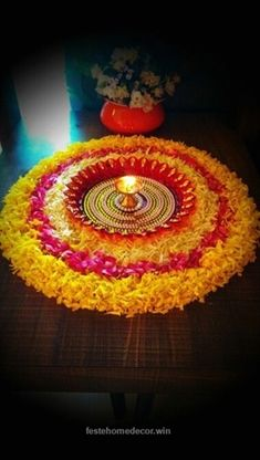 Great 44 Diwali DIY Decoration Ideas (You Must Try) The post 44 Diwali DIY Decoration Ideas (You Must Try)… appeared first on Feste Home Decor . Decoration Ideas 44 Diwali DIY Decoration Ideas (You Must Try)… Rangoli Designs Flower, Colorful Rangoli Designs, Rangoli Ideas, Rangoli Designs Diwali, Diwali Rangoli, Simple Flower Rangoli, Rangoli Patterns, Indian Rangoli, Kolam Designs