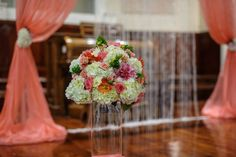 Coral wedding decor by Mio Sole Florals