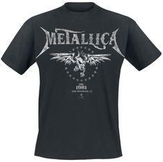 Metallica Biker T-ShirtEmp.de - Metallica Biker T-ShirtEmp. Band Merch, Band Shirts, Thrasher, T Shirt Metallica, Musik Genre, Web Design Jobs, Biker T-shirts, Style Sportif, Vintage Stil