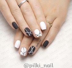 Nail Shapes - My Cool Nail Designs Gelish Nails, My Nails, Trendy Nails, Cute Nails, Multicolored Nails, Short Nails Art, French Tip Nails, Accent Nails, Cool Nail Designs