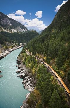 The Rocky Mountaineer railway from Vancouver to Jasper - Rocky Mountains, Canada