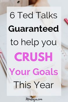 6 Ted Talks Guaranteed To Help You Crush Your Goals This Year! Get tons of success tips and goal setting tips to take your personal development to the next level! Make 2019 you year! Achieving Goals, Achieve Your Goals, Set Your Goals, Success Mindset, Growth Mindset, Self Development, Personal Development, Goal Setting Worksheet, Coaching