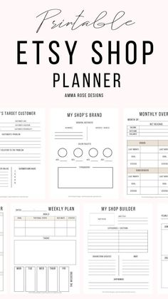This printable Etsy Shop planner is made to help you get crystal-clear on your priorities and manage your time like a pro! You& get dedicated sheets for creating your Etsy shop, goal setting, suppliers contact, ad so much more! Business Planner, Business Goals, Business Tips, Diy Business Ideas, Business Video, Business Quotes, Tshirt Business, Business Money, Business Products