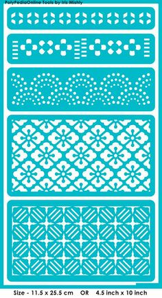 Stencil Stencils Templates Symmetric Patterns por irismishly