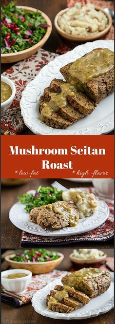 This tender seitan roast is sure to be the star of your holiday table. Vegan and low-fat.