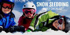 Our Snow Sledding Family Checklist!
