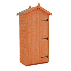 this small wooden storage tool shed is an excellent little store for all gardening tools and equipment the garden shiplap tool tower comes with free