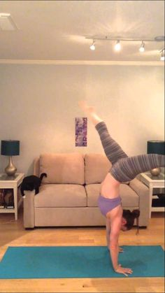 One Leg Crow to #Handstand and Back #yoga #armbalance #inversion