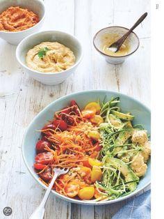 Regenboogsalade uit Powerfood, Rens Kroes #Healthy #Happy #Salade