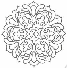 Printable mandala template1