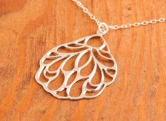 Silver Wing Necklace  butterfly wing necklace by MegusAttic, 28.00