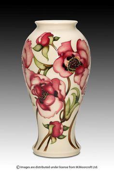 Moorcroft Pottery Calamine Cream Designer Emma Bossons FRSA