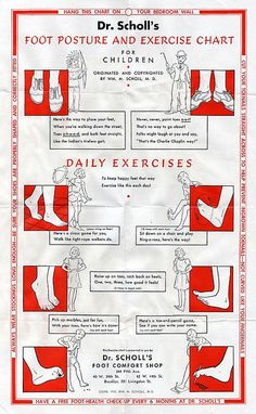 Foot Posture & Exercise Chart