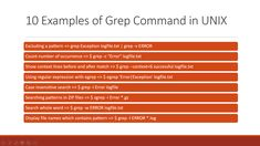 10 examples of grep command in UNIX and Linux Ibm Aix, Regular Expression, Linux Operating System, Online Stock, Data Structures, Interview Questions, Day Work, New Things To Learn, Some Words